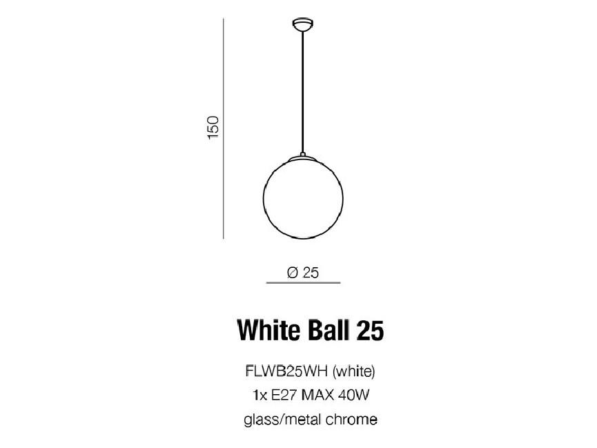 WHITE BALL 25
